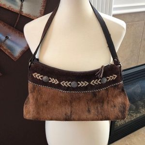 American West cowhide purse